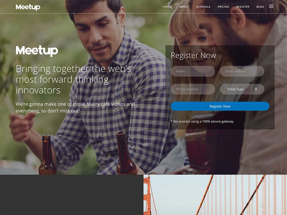 Meetup - 41+ Top Awesome WordPress Themes For Events [year]