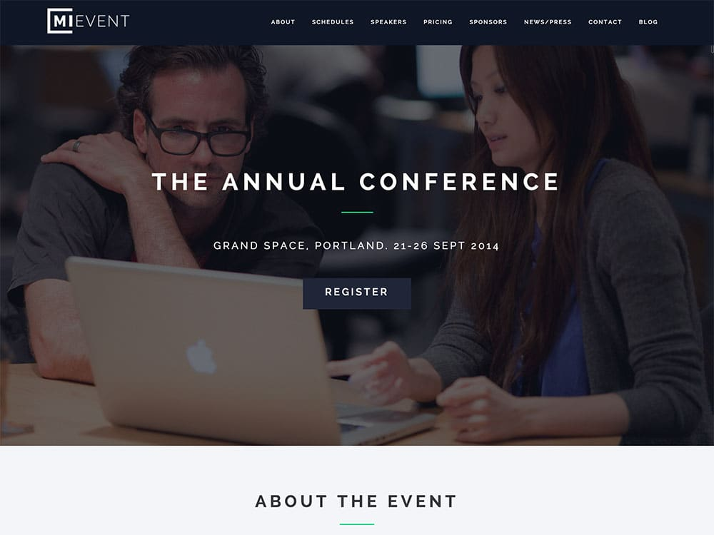 MiEvent - 41+ Top Awesome WordPress Themes For Events [year]