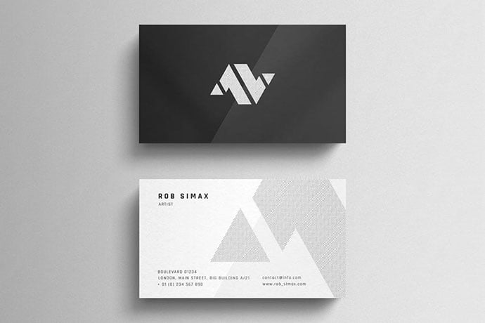 Minimal-Business-Card - 46+ Photographer, Artist & Designer Business Card Templates [year]