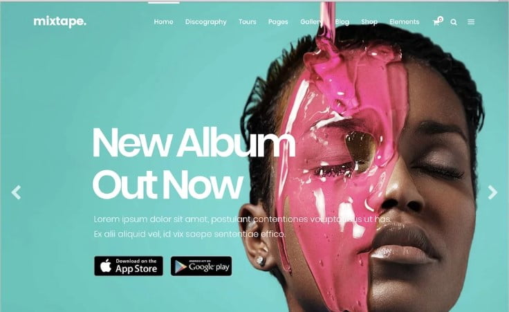 Mixtape-1 - 41+ Stunning Responsive Music Website Templates [year]