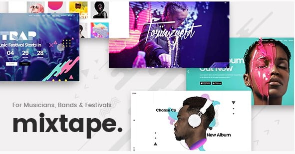 Mixtape - 31+ Best Online Music Selling WordPress Themes [year]