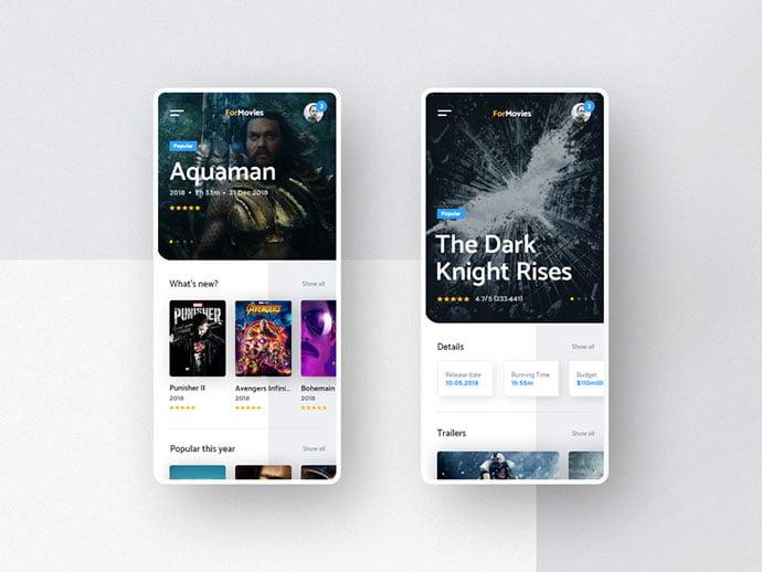 Mobile-App-Concept - 63+ Amazing Film & TV App UI Design Sample [year]