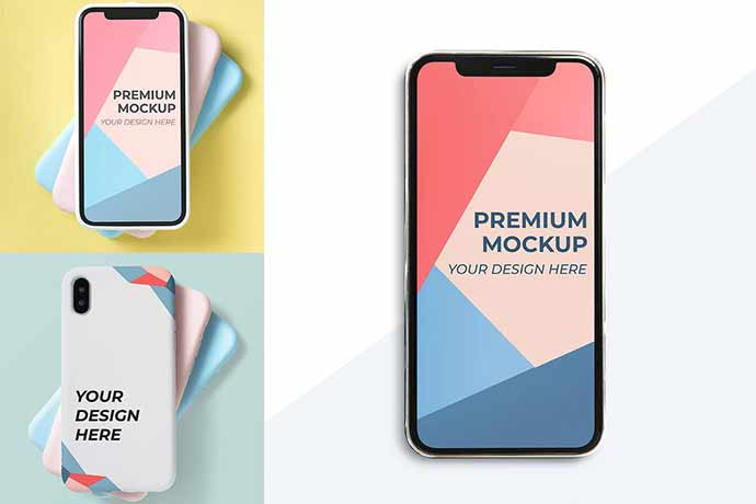 Mobile-Design-Mockup - 51+ Amazing iOS and Android Phone PSD Mockup Templates [year]