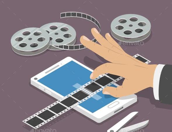Mobile-Video-Editor - 63+ Amazing Film & TV App UI Design Sample [year]