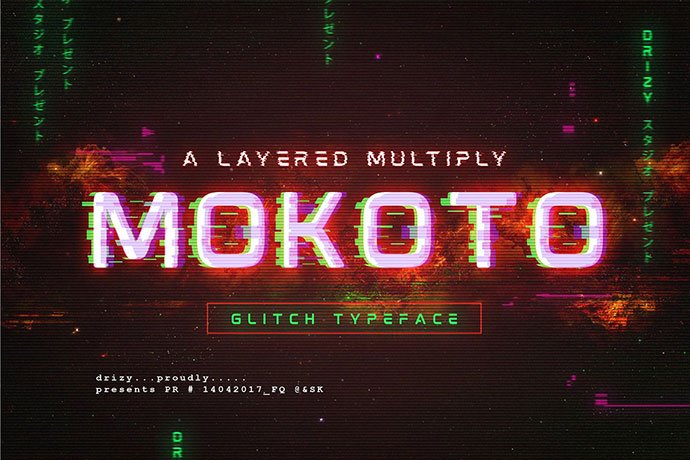 Mokoto-Glitch-Typeface - 32+ Honestly Impressive Distorted Fonts [year]
