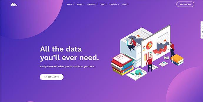Moody - 36+ Wonderful Gradients Designs WordPress Theme [year]
