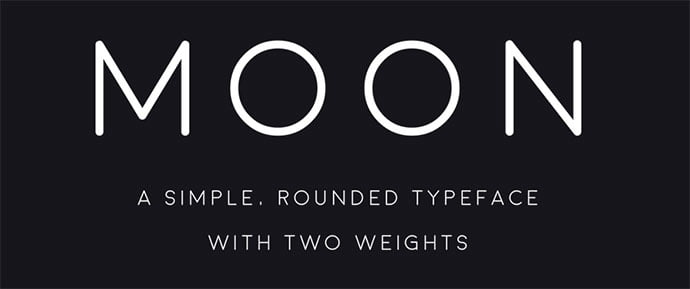 Moon - 36+ Free Quality Sans-Serif Designer Fonts [year]