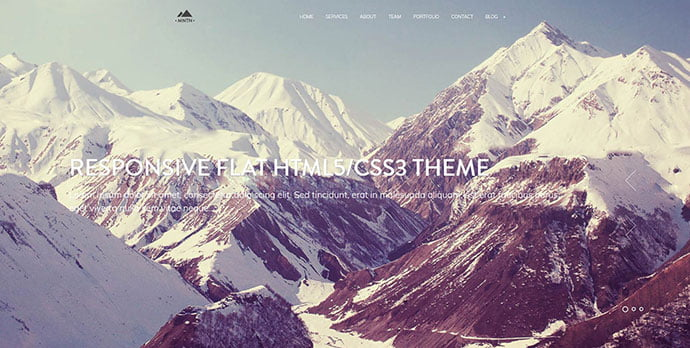 Mountain - 31+ Unique Parallax Experience WordPress Themes For Developer [year]