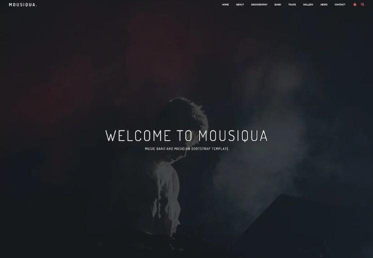 Mousiqua - 41+ Stunning Responsive Music Website Templates [year]