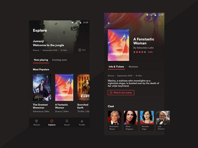 Movie-App-–-Design-Concept - 63+ Amazing Film & TV App UI Design Sample [year]