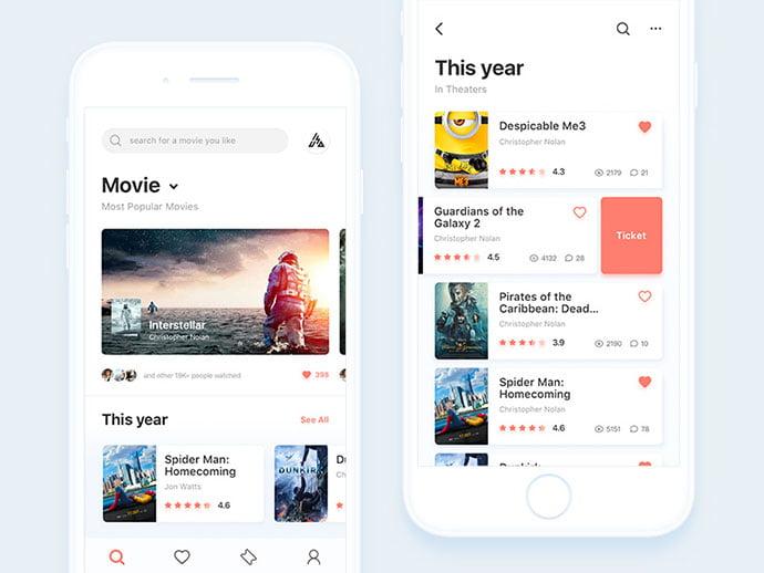 Movie-App-Seen - 63+ Amazing Film & TV App UI Design Sample [year]