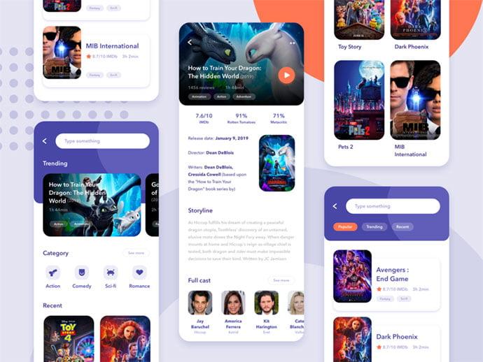 Movie-App - 63+ Amazing Film & TV App UI Design Sample [year]