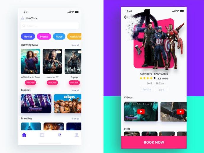 Movie-Booking-App - 63+ Amazing Film & TV App UI Design Sample [year]