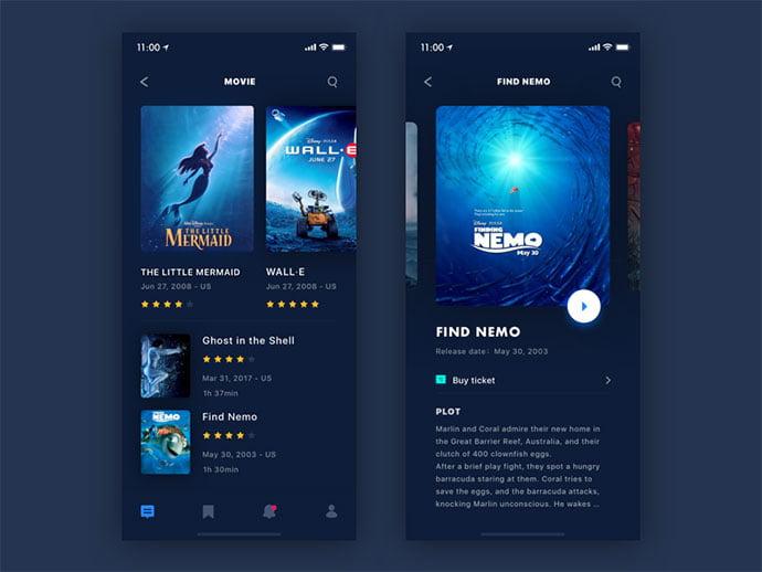 Movie-Reviews - 63+ Amazing Film & TV App UI Design Sample [year]