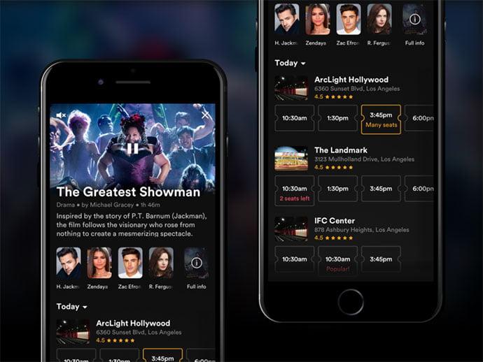 Movie-Tickets - 63+ Amazing Film & TV App UI Design Sample [year]