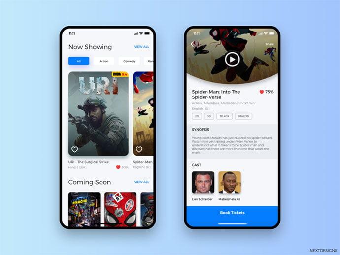 Movie-Ui-Design - 63+ Amazing Film & TV App UI Design Sample [year]