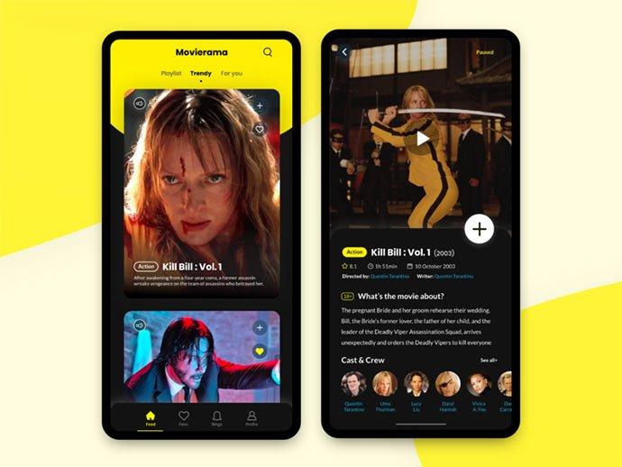 Movierama-Mobile - 63+ Amazing Film & TV App UI Design Sample [year]