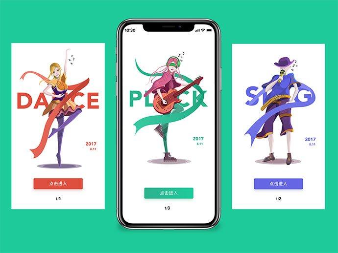 Muisic - 51+ Best Free Onboarding UI Mobile App Sample [year]