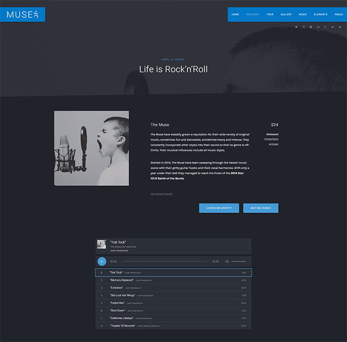 Muse - 31+ Best Online Music Selling WordPress Themes [year]