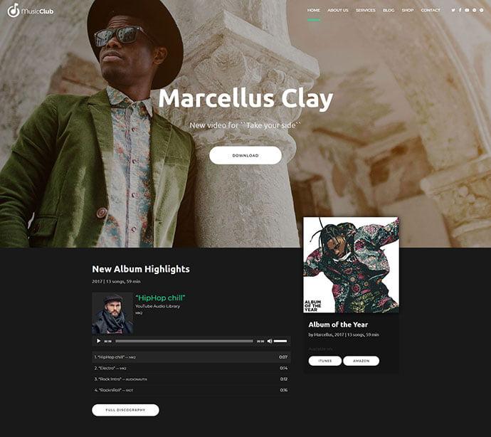 Music-Club - 31+ Best Online Music Selling WordPress Themes [year]