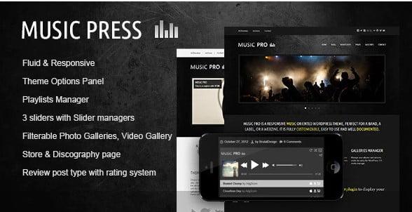 MusicPress - 31+ Best Online Music Selling WordPress Themes [year]