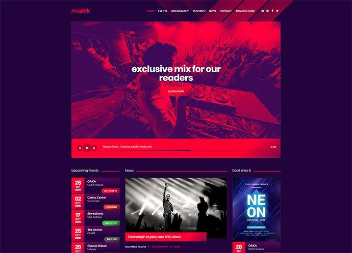 Muzak-1 - 31+ Best Online Music Selling WordPress Themes [year]
