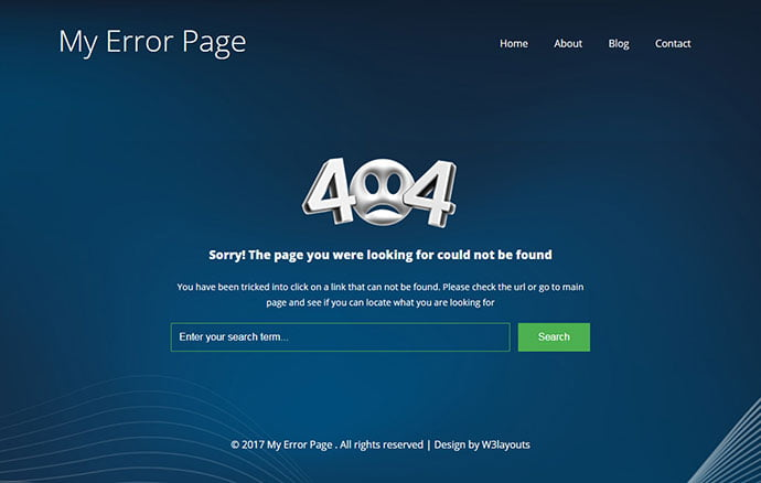 My-Error-Page - 65+ Amazing Free CSS HTML5 Website Design Templates [year]