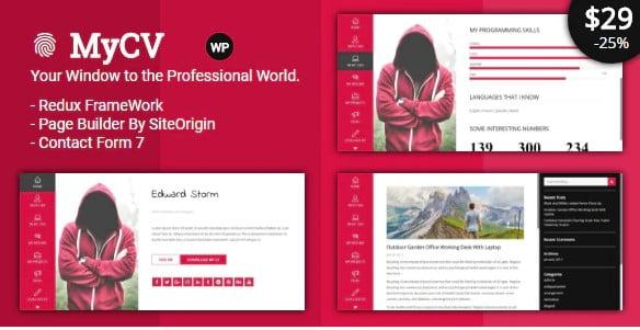 MyCV - 31+ Top WordPress Themes For vCard [year]