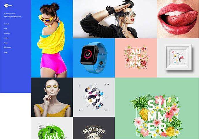 Native - 41+ Awesome Logo Designer WordPress Themes [year]