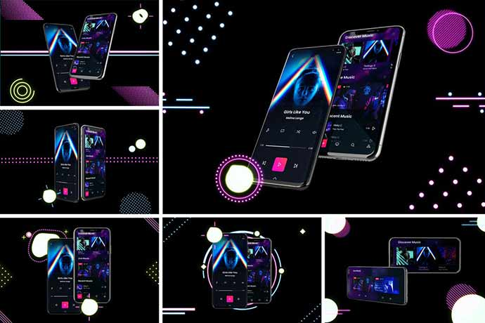 Neon-Ios-Android - 51+ Amazing iOS and Android Phone PSD Mockup Templates [year]