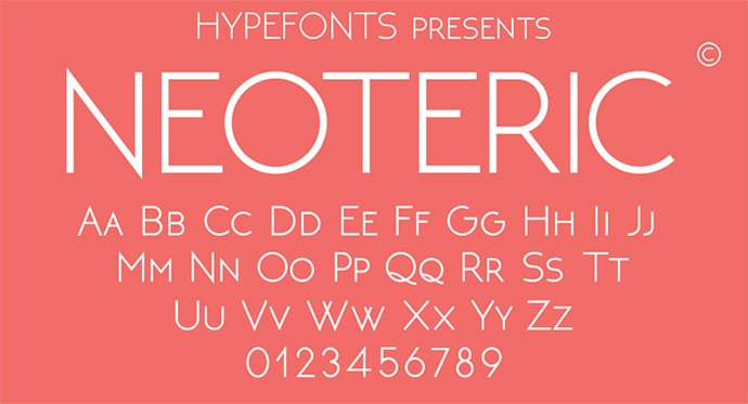 Neoteric - 36+ Free Quality Sans-Serif Designer Fonts [year]