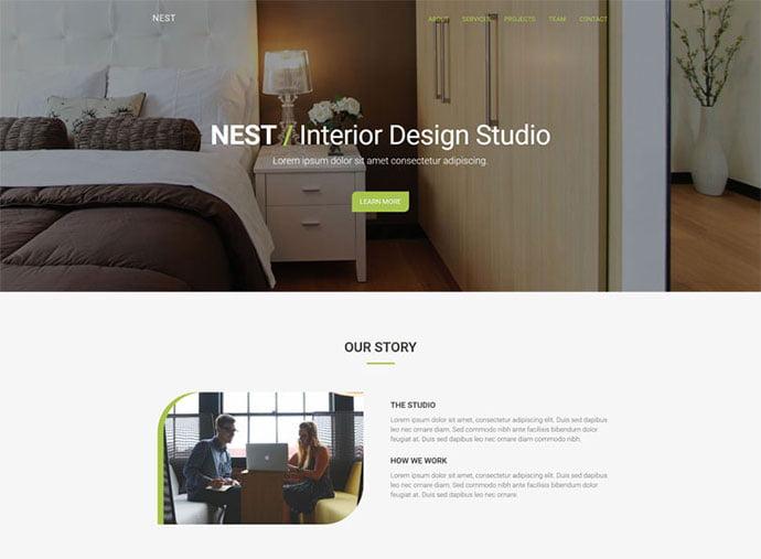 Nest - 65+ Amazing Free CSS HTML5 Website Design Templates [year]