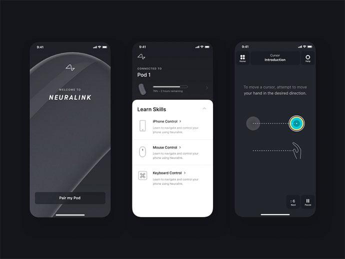Neuralink-by-Stephen-Phung - 51+ Best Free Onboarding UI Mobile App Sample [year]