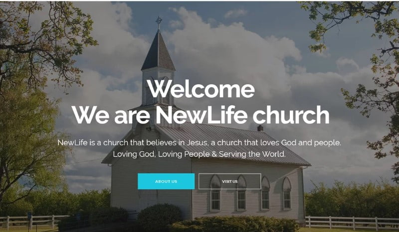 New-Life - 31+ Inspiring Modern Church WordPress Themes [year]