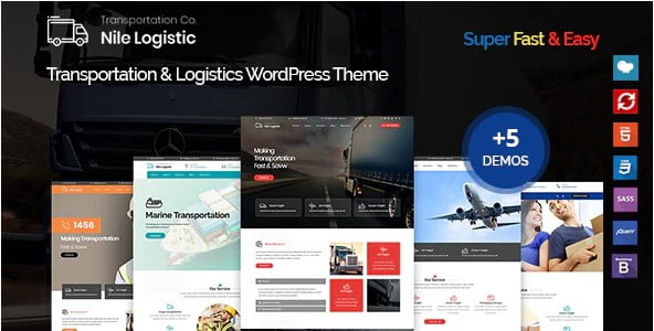 Nile - 36+ Stunning WordPress Themes For Transportation [year]