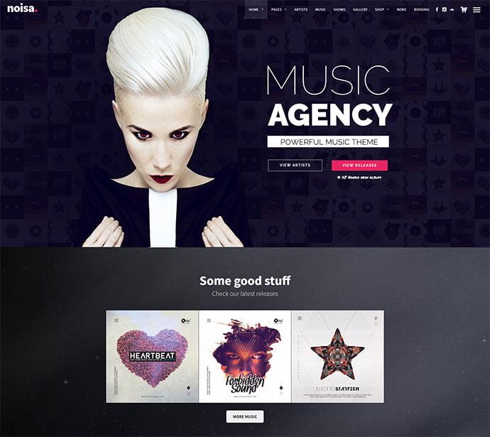 Noisa - 31+ Best Online Music Selling WordPress Themes [year]