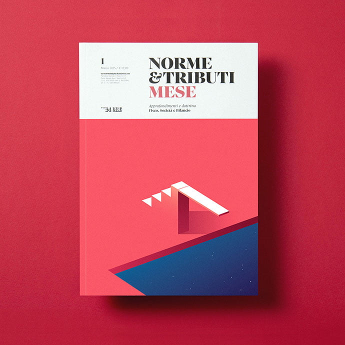 Norme-Tributi-MESE - 63+ Surprising Typography In Magazine & Book Designs [year]
