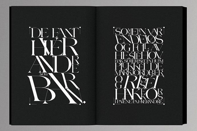 Odd-Magnus-Williamson - 63+ Surprising Typography In Magazine & Book Designs [year]