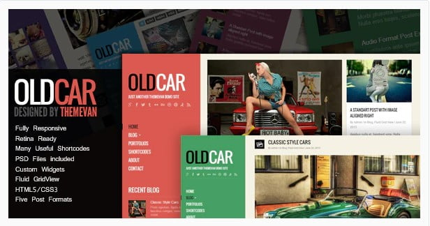 OldCar - 36+ Amazing Tumblr Style WordPress Themes For Developer [year]