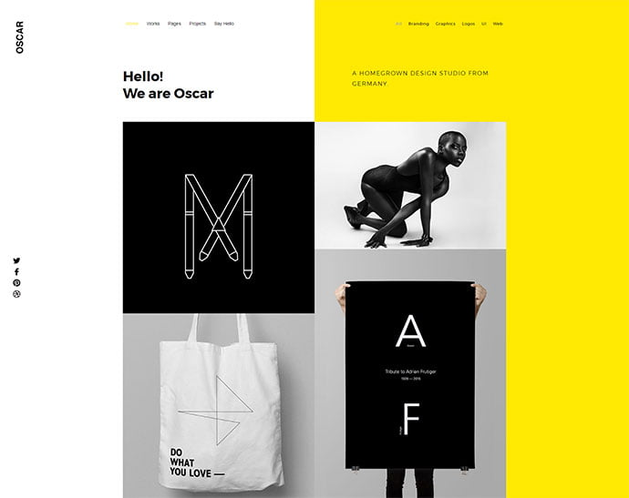 Oscar - 31+ Awesome WordPress Themes For Swiss-inspired [year]