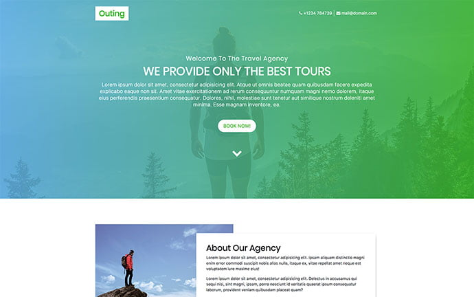 Outing - 65+ Amazing Free CSS HTML5 Website Design Templates [year]