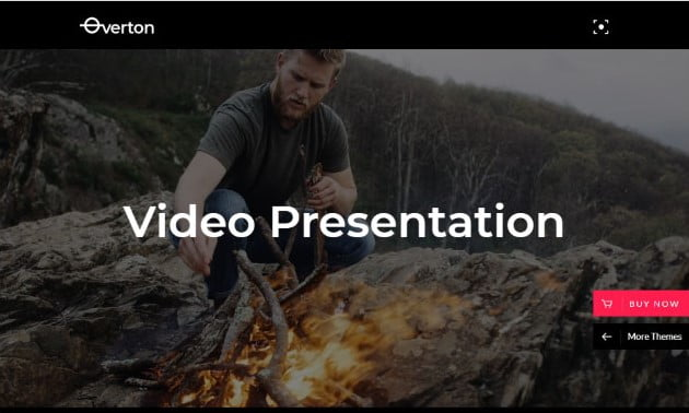 Overton - 26+ Nice WordPress Video Themes For Motion Designer [year]
