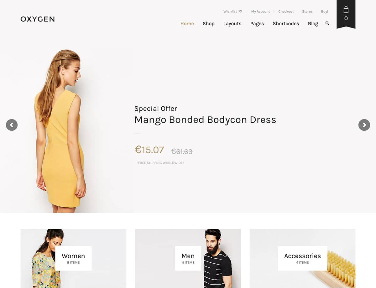 Oxygen - 46+ Top Best WordPress Themes For Ecommerce [year]