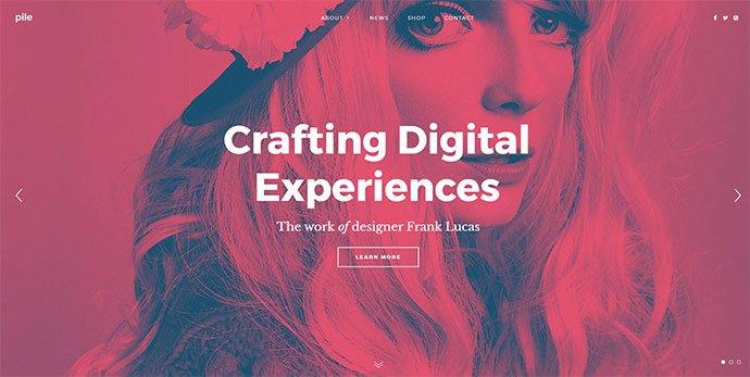 PILE - 36+ Wonderful Gradients Designs WordPress Theme [year]