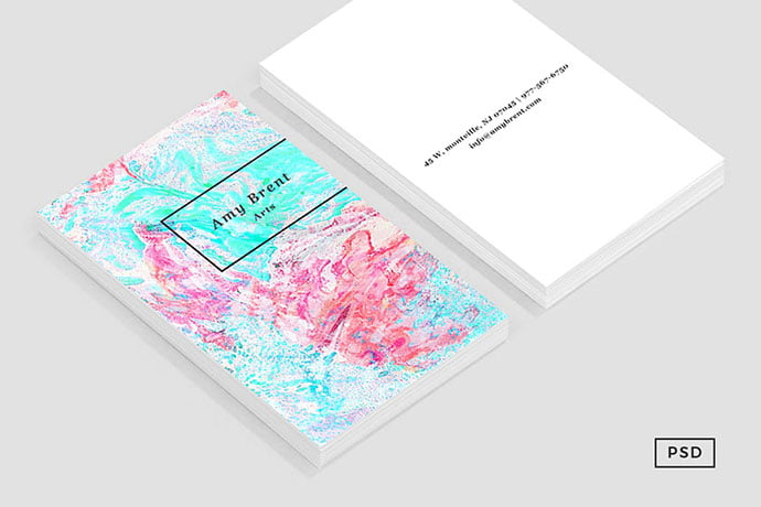 Paper-Marble-Pattern-Business-Card