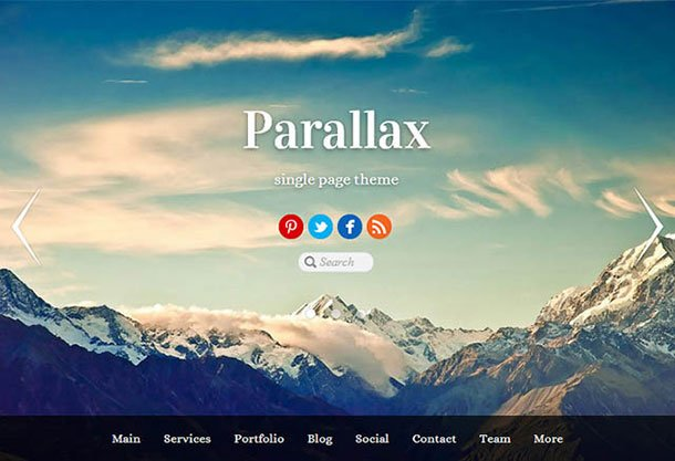 Parallax - 31+ Top WordPress Themes For Drag and Drop [year]
