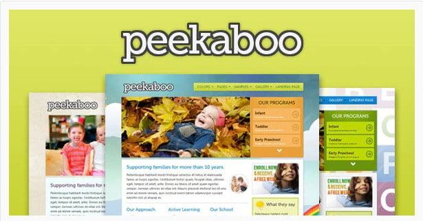 Peekaboo - 36+ Amazing Tumblr Style WordPress Themes For Developer [year]