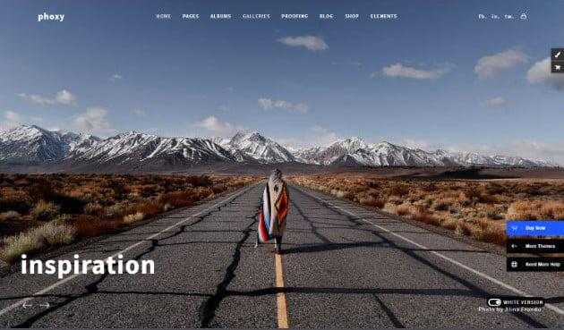 Photography-Phoxy - 31+ Top WordPress Themes For Landscape Photography Portfolio [year]