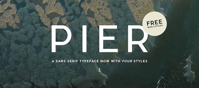 Pier - 36+ Free Quality Sans-Serif Designer Fonts [year]