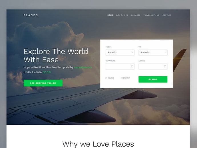 Places - 65+ Amazing Free CSS HTML5 Website Design Templates [year]